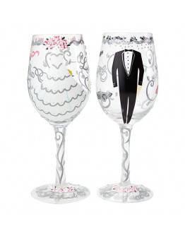Lolita Wine chalice Just Married Coppia