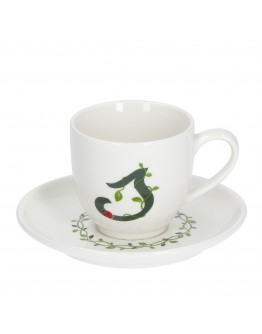 Porcellana Bianca letter coffee cup