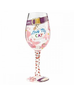 Lolita Wine Glass Love My Cat