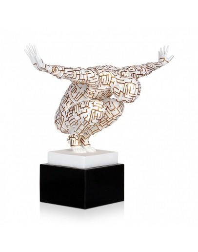 sculpture gold white